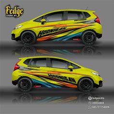 "Wrap design for Honda Jazz Original design by Alip Yuli ""Fedge"" Honda Jazz, Honda Fit, Car Stickers, Car Decals, Jazz 2016, Jazz Art, Car Tuning, Rally, Cool Designs"