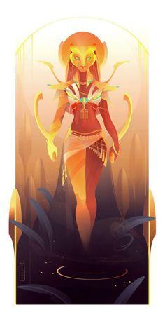Sekhmet - Egyptian Gods and Goddesses, Yliade Illustrations