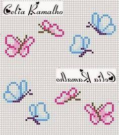 Tiny Cross Stitch, Butterfly Cross Stitch, Cross Stitch Letters, Cross Stitch Borders, Cross Stitch Flowers, Cross Stitch Designs, Cross Stitching, Cross Stitch Embroidery, Stitch Patterns