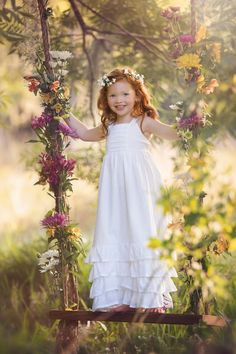 Violette Field Threads, Cosette Maxi Dress Pattern - I have most of the Violette field dress patterns. The cottons are easiest to work with. I am getting a bit better with the tulle. Beautiful Little Girls, Beautiful Children, Beautiful Smile, Portrait Studio, Little Princess, Princess Room, Belle Photo, Children Photography, Swing Photography