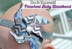 Do It Yourself Pinwheel Baby Headband