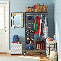 A few special touches dress up an ordinary rolling rack, eliminating the need…