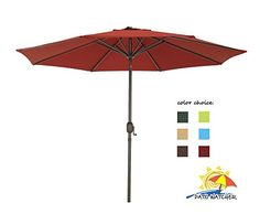 Patio Watcher 9 Ft Outdoor Table Aluminum Patio Umbrella with Auto Tilt and Crank8 Steel Ribs100% Polyester 250GSM Fabirc UV Resistant Red For Sale https://homepatiogarden.net/patio-watcher-9-ft-outdoor-table-aluminum-patio-umbrella-with-auto-tilt-and-crank8-steel-ribs100-polyester-250gsm-fabirc-uv-resistant-red-for-sale/