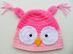 Gorro Crochet Corujinha