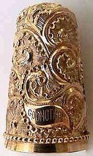 gold thimble - antique