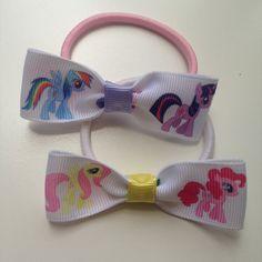 My Little Pony Hair Bow Elastic Hair Ties Birthday by OliverandMay, $5.00