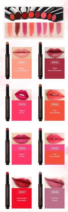 [$ 5.89]  Beezan Pressed Matte Lipstick Velvet Lip Gloss Waterproof Moisturizing Lips Makeup 8 Colors