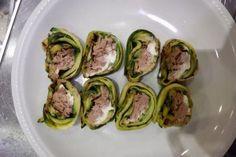 finto sushi Rotoli di zucchine