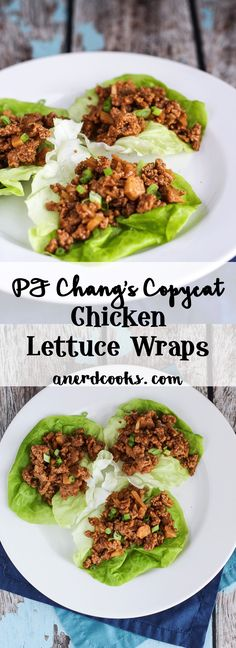 You searched for PF Changs chicken lettuce wraps - A Nerd Cooks Asian Lettuce Wraps, Lettuce Wrap Recipes, Healthy Chicken Lettuce Wraps, Pf Changs Lettuce Wraps Recipe Healthy, Best Lettuce For Wraps, Lettuce Wrap Ideas, Ground Turkey Lettuce Wraps, Asian Chicken Wraps, Veggie Wraps