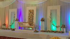 stage Tent Decorations, Wedding Stage Decorations, Flower Decorations, Tamil Wedding, Wedding Mandap, Church Stage Design, Marriage Decoration, Imran Khan, Mehendi