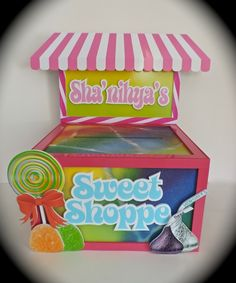 Candy Shoppe design for this Gift Card Box. #giftcardbox #candy #sweetshop