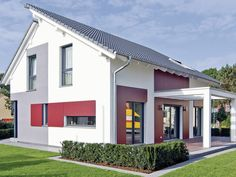 Musterhaus generation5.5 - Haus 200 • Musterhaus von WeberHaus • Energieeffizientes Fertighaus mit weißem Edelputz und versetztem Pultdach • Jetzt bei Musterhaus.net informieren!
