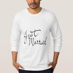Cute Simple Just Married Typography Script T-Shirt