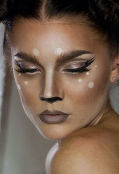 Deer make-up Plus, 11 other Halloween ideas
