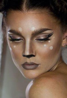 Deer make-up Plus, 11 other Halloween ideas