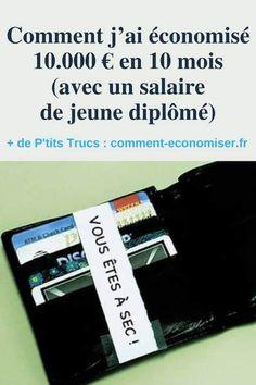 La technique pour économiser 10000 euros en 10 mois avec un petit salaire