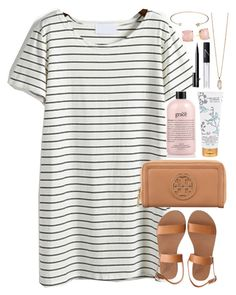 """This slope is treacherous, this path is reckless"" by lauren-hailey ❤ liked on Polyvore featuring Ancient Greek Sandals, Tory Burch, philosophy, Library of Flowers, Jeweliq, NARS Cosmetics, Zoya and Kate Spade"