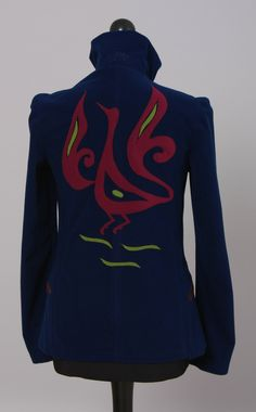 Damen Outdoorjacke, Verbindung von Funktionalität und Design aus wind - und wasserdichtem Material. Farbe: blau #Outdoorjacke
