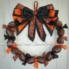 Check out this item in my Etsy shop https://www.etsy.com/listing/456083968/football-wreath-perfect-decor-for-avid