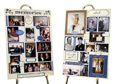 These NEW memory boards are a combo of scrapbooking and memorial boards. Everything you need is in the kit. $59 (includes 2 boards) #funeral #memoryboards