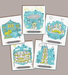 Chicago Blank Notecards