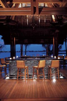 Le Touessrok Hotel & Spa outdoor bar by HBA Design