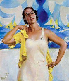 Giacomo Balla (Torino, 1871 - Roma, 1958) Figlia del sole, 1933 Olio su tavola Collezione privata