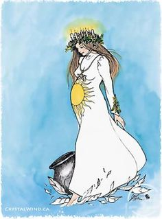 This Sabbat is a time of cleansing and newborn lambs, a good time for the Blessing of seeds. It is a festival of the Maiden in preparation for growth and renewal. Imbolc is a time to honor the Virgin… Yule, Imbolc Ritual, Sainte Lucie, Pagan Art, Goddess Art, Groundhog Day, Sabbats, Winter Solstice, Book Of Shadows