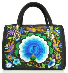 Women's Canvas Floral Embroidered Multi Function Handbag Versatile Casual Shoulder Bag Large Capacity Messenger Bag Hot Selling