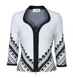 Joseph Ribkoff Jacket. White & Black.  Matching dress available.