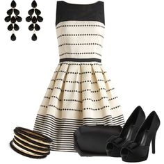 Black and white stripes by pollydickson on Polyvore