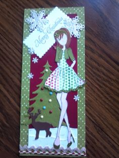 Christmas using the Julie Nutting Mixed Media Doll Stamp by one of our amazing readers!