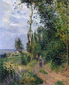 Côte des Grouettes, near Pontoise - Camille Pissarro 1878