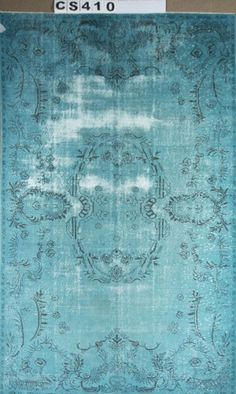 Overdyed Vintage Hand Woven Turkish Carpet 5.91 by ArtcoreIstanbul, $720.00