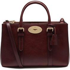 Mulberry Small Bayswater Double Zip Tote (30,885 MXN) ❤ liked on Polyvore featuring bags, handbags, tote bags, oxblood, red leather tote, mini tote bag, mini tote, genuine leather tote bag and leather handbags