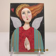 Original Folk Art Angel Painting, Inspirational Painting, Assemblage, Mixed Media Painting, Religious Art, Icon, 3D Art, Christmas Art by angelonmyshoulder on Etsy https://www.etsy.com/listing/497364313/original-folk-art-angel-painting