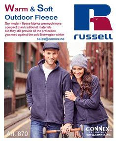 Varm #fleecejakke i kulda med din firmalogo http://www.connex.no/fleece.html #logo #b2b #arbeidstøy #workwear #fleece #russel #nydalen #connex #connexpromotion