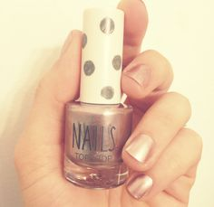 "love the new #topshop nail polish // this velvety metallic color is called ""moonshine"""