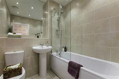 Taylor Wimpey The Monkford - lilac and green Bathroom Inspo, Bathroom Inspiration, Bathroom Ideas, Bad Inspiration, Home Decor Inspiration, Wimpey Homes, Extensions, Taylor Wimpey, Detached House