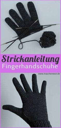 Knit perfectly fitting gloves Free instructions in German // Str . Knit perfectly fitting gloves Free Instructions in German // Knitting Instructions // Gloves // Merino // Free Instructi. Knitting Terms, Easy Knitting, Knitting For Beginners, Knitting Projects, Knitting Patterns, Crochet Patterns, Knitting Tutorials, Crochet Pullover Pattern, Crochet Gloves Pattern