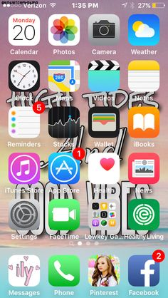 Home screen by Katie