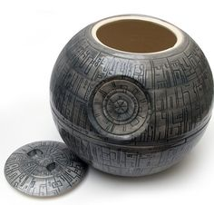 Death Star Cookie Jar - it's true!  They do have cookies in the dark side!!