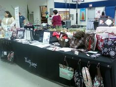 thirty one ideas | Sharon's Thirty-One Event Display. Note my awesome shower curtain ...