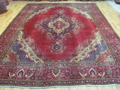 A FASCINATING OLD HANDMADE TABRIZ AZERBAIJAN PERSIAN RUG (386 x 278 cm)