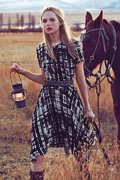 Painted Plaid Dress