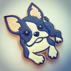 Boston Terrier or French Bulldog Doggy  #coccolina_cookies