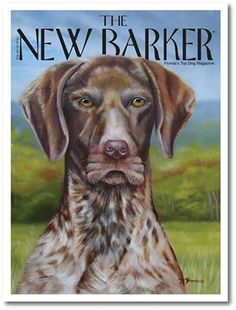 By the way, the painting of a German Shorthaired Pointer by #FloridaArtist Donna Bonavia, appeared on the #Winter 2011 cover of THE NEW BARKER.