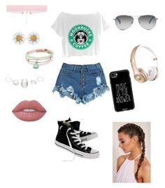 """""""Untitled #408"""" by kau648156 on Polyvore featuring WithChic, Converse, Casetify, TOMS, Alex and Ani and Lime Crime"""