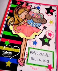 Silvia Scrap: Reto 36 en Latinas Arts And Crafts. Tarjeta Neón Digi Giselle de Lostanhell Creations