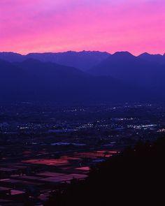 安曇野の夕焼け